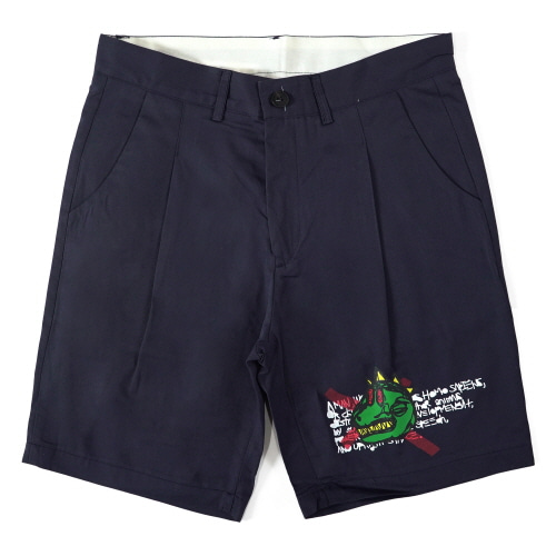 아임낫어휴먼비잉 NOT A HUMANBEING SHORTS - NAVY