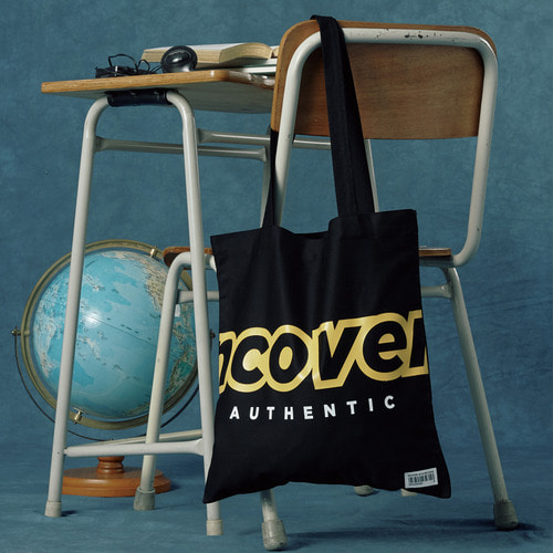 앤커버 NCOVER Signature logo eco bag-black 에코백 블랙