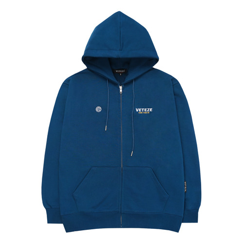 VETEZE 베테제 Circle Logo Hood Zipup (Deep Blue)