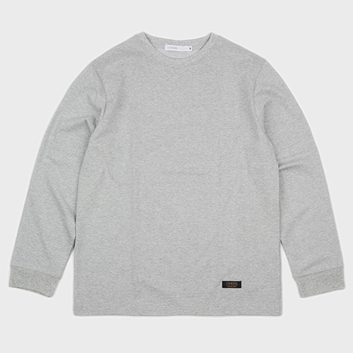 [로커드_LOKWARD] BASIC LONG SLEEVE TEE (GREY)