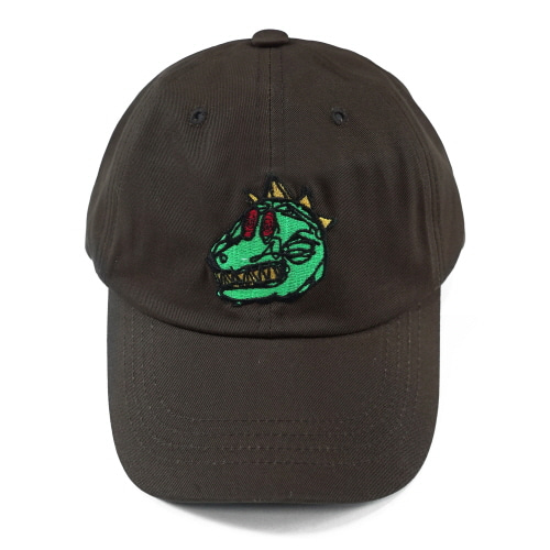 I AM NOT A HUMAN BEING 아임낫어휴먼비잉 DINO BALL CAP - DARK BROWN