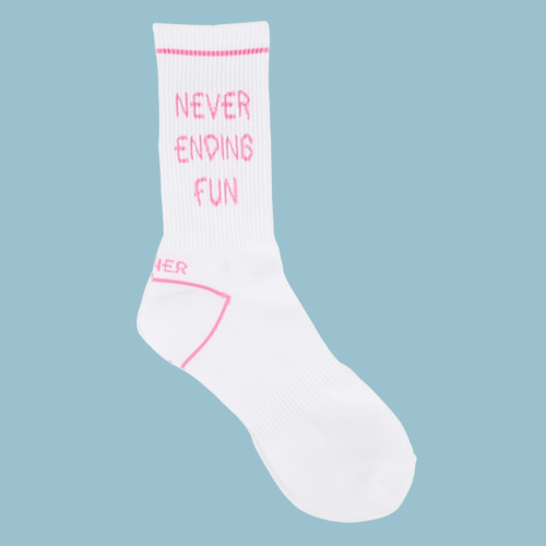 로너 LONER NEVER ENDING FUN SOCKS-PINK