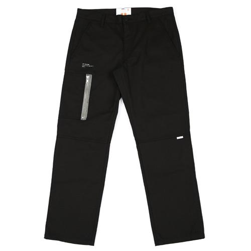 [BLEDITION_블레디션] COTTON RIPSTOP EASY CROP PANTS BLACK