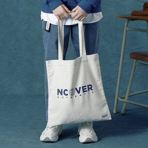 앤커버 NCOVER Authentic logo eco bag-ivory 에코백 아이보리