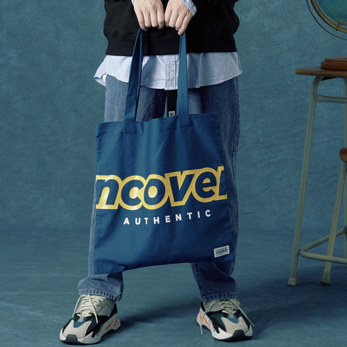 앤커버 NCOVER Signature logo eco bag-darkblue 에코백 다크블루