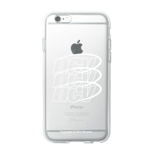 앤커버 NCOVER Triple ncv logo case-white(jelly case)