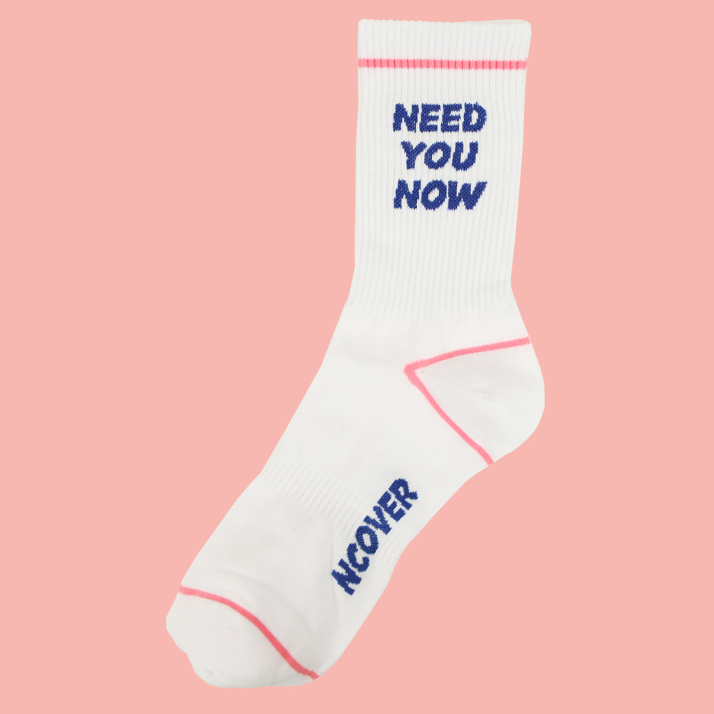 앤커버 NCOVER Need you socks-white/pink