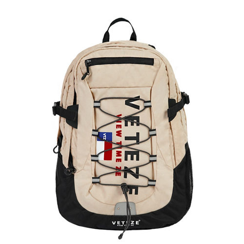 VETEZE 베테제 Big Logo Backpack (Beige)