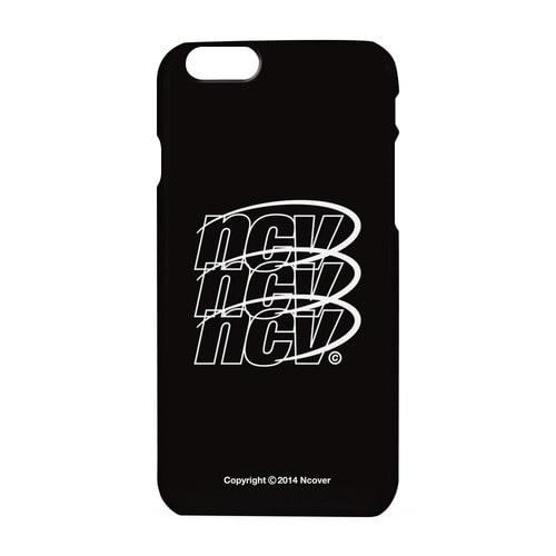 앤커버 NCOVER Triple NCV logo case-black