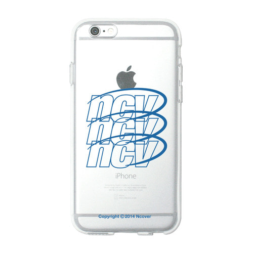 앤커버 NCOVER Triple ncv logo case-blue(jelly case)