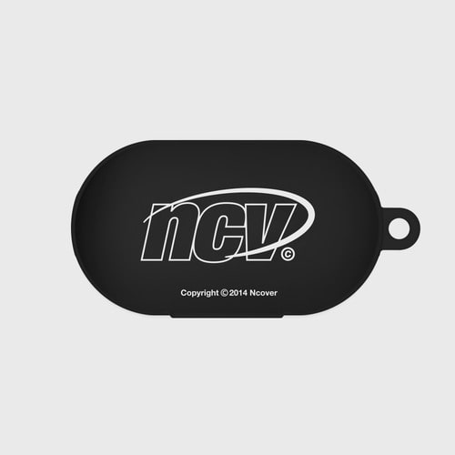 앤커버 NCOVER Quarter ellipse logo case-black(buds jelly case)