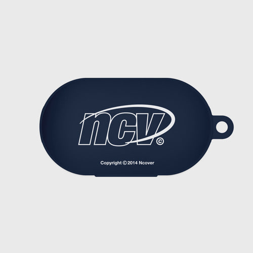 앤커버 NCOVER Quarter ellipse logo case-navy(buds jelly case)