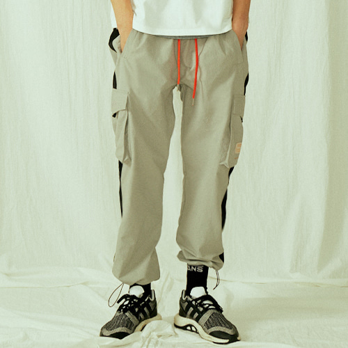 [BLEDITION_블레디션] POCKET TRACK PANTS GRAY