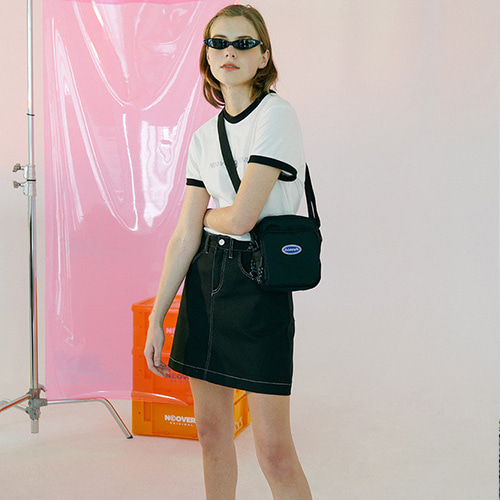 앤커버 NCOVER basic skirt-black