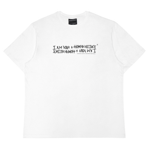 I AM NOT A HUMAN BEING 아임낫어휴먼비잉 NEW BASIC LOGO T-SHIRT - WHITE