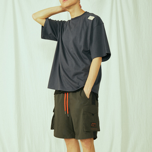 [BLEDITION_블레디션] POCKET TRACK SHORT PANTS BLACK