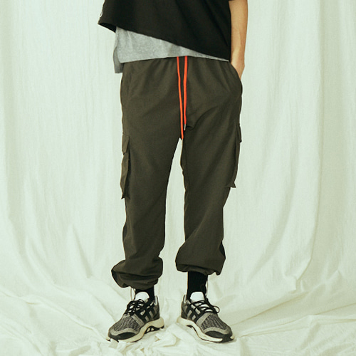 [BLEDITION_블레디션] POCKET TRACK PANTS BLACK
