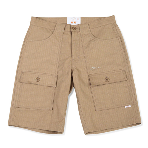[BLEDITION_블레디션] COTTON RIPSTOP BUSH SHORT PANTS BEIGE